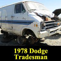 Junkyard 1978 Dodge Tradesman van