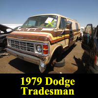 Junkyard 1979 Dodge Tradesman van