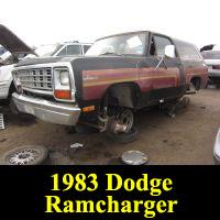 Junkyard 1983 Dodge Ramcharger Royal SE