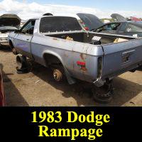 Junkyard 1983 Dodge Rampage