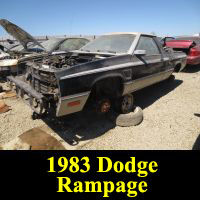 Junkyard 1983 Dodge Rampage Prospector