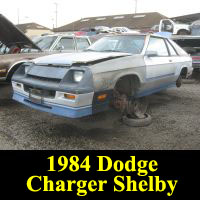 Junkyard 1984 Dodge Shelby Charger