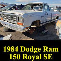 Junkyard 1984 Dodge Ram 150 Royal SE