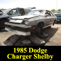 Junkyard 1985 Dodge Shelby Charger