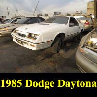 Junkyard 1985 Dodge Daytona Turbo