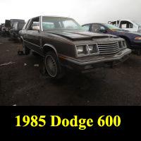 Junkyard 1985 Dodge 600 Turbo