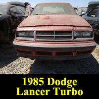 Junkyard 1985 DOdge Lancer Turbo