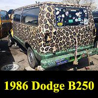 Junkyard 1986 Dodge B250 Van