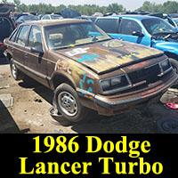 Junkyard 1986 Dodge Lancer Turbo