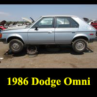 Junkyard 1986 Dodge Omni