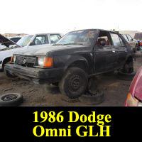Junkyard 1986 Dodge Omni GLH