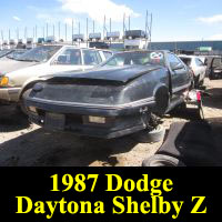 Junkyard 1987 Dodge Daytona Shelby Z