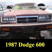Junkyard 1987 Dodge 600 SE