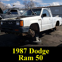 Junkyard 1987 Dodge Ram 50