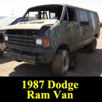 Junkyard 1987 Dodge Ram Van