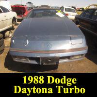Junkyard 1988 Dodge Daytona Turbo