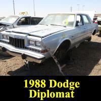 Junkyard 1988 Dodge Diplomat Salon