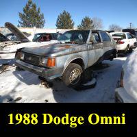 Junkyard 1988 Dodge Omni