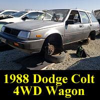 Junkyard 1988 Dodge Colt 4WD Wagon