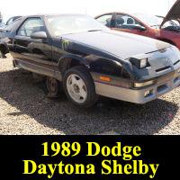 Junkyard 1989 Dodge Shelby Daytona Turbo