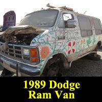 Junkyard 1989 Dodge Ram Van