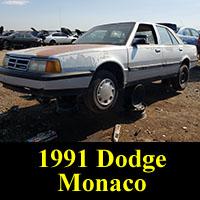 Junkyard 1991 Dodge Monaco LE