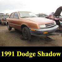 Junkyard 1991 Dodge Shadow
