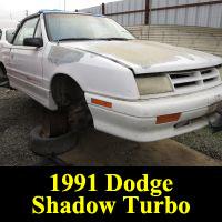 Junkyard 1991 Dodge Shadow Turbo