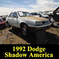 Junkyard 1992 Dodge Shadow America