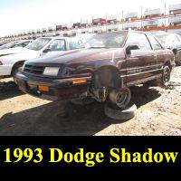 Junkyard 1993 Dodge Shadow