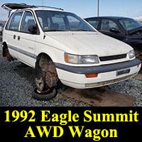 Junkyard 1992 Eagle Summit 4WD Wagon