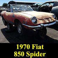 Junkyard 1970 Fiat 850 Spider