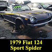 Junkyard 1979 Fiat 124 Sport Spider