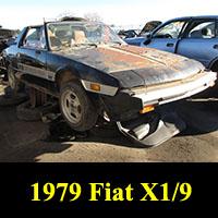 Junkyard 1979 Fiat X1/9
