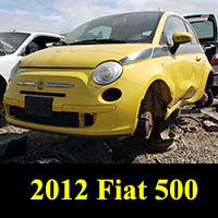 Junkyard 2012 Fiat 500