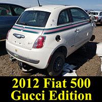 Junkyard 2012 Fiat 500 Gucci