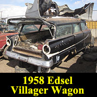 Junkyard 1958 Ford Edsel wagon