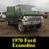 Junkyard 1970 Ford Econoline van