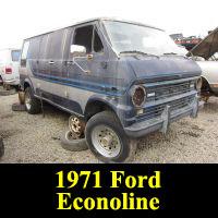 Junkyard 1971 Ford Econoline
