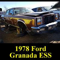 Junkyard 1978 Ford Granada ESS