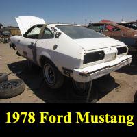 Junkyard 1978 Ford Mustang