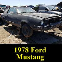 Junkyard 1978 Ford Mustang Ghia
