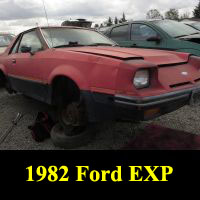 Junkyard 1982 Ford EXP