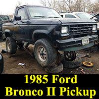 Junkyard 1985 Ford Bronco II Sawzall Pickup