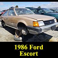 Junkyard 1986 Ford Escort