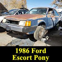Junkyard 1986 Ford Escort Pony