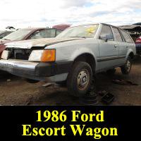 Junkyard 1986 Ford Escort L wagon