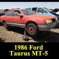 Junkyard 1986 Ford Taurus MT-5