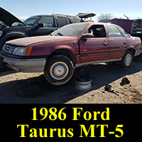 Junkyard 1986 Ford Taurus MT-5 sedan