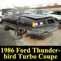 Junkyard 1986 Ford Thunderbird Turbo Coupe